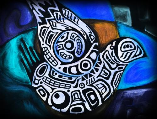 Acrylic on Canvas (Digitally Modified)  - Jason Sierra (2011)
